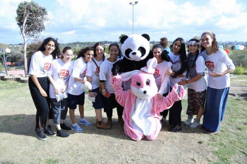"""מתנדבי זק""""א ישראל באירוע מיוחד של מסיבת פורים לילדים נפגעים בחצלת השרון"""