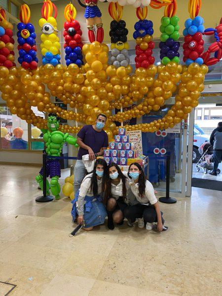 """מתנדבי זק""""א ישראל – ילדים של החיים בשיתוף בנק מרכנתיל קיימו פעילות חג במחלקות הילדים בבית החולים שיבא בתל השומר"""